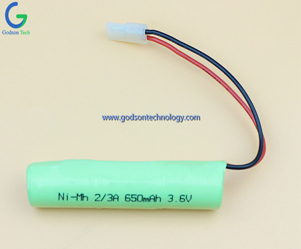 Ni-MH Battery 2/3A 650mAh 3.6V