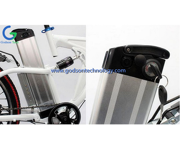 E-bike Battery 36V 10Ah Silver Fish