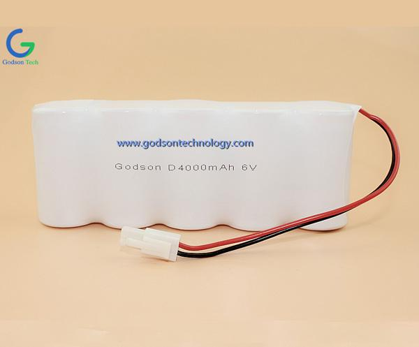 Ni-Cd Battery Pack D4000mAh 6V SBS