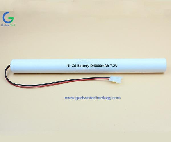 Ni-Cd Battery Pack D4000mAh 7.2V Stick