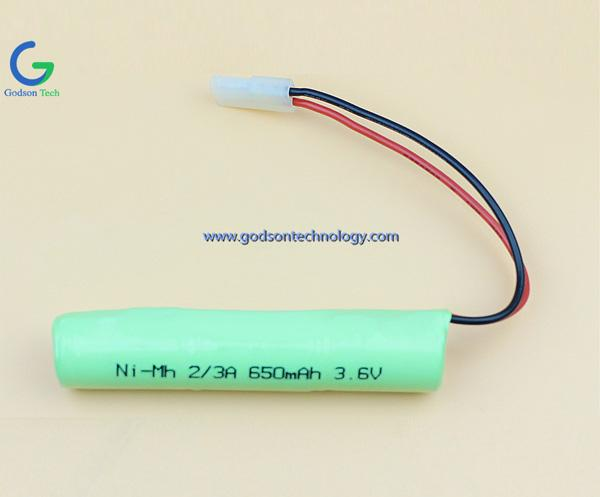Ni-MH Battery 2-3A 650mAh 3.6V