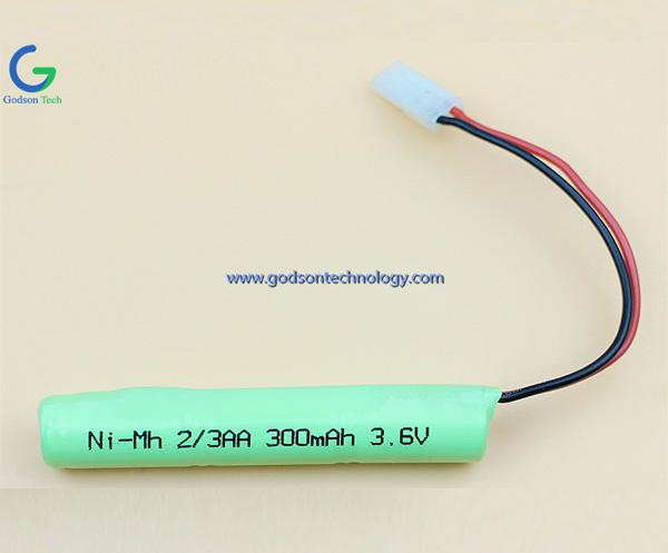 Ni-MH Battery 2-3AA 300mAh 3.6V