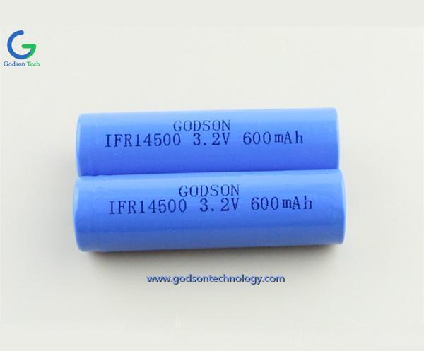 LiFePO4 IFR14500 3.2V 600mAh