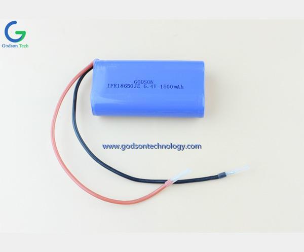 LiFePO4 IFR18650 6.4V 1500mAh
