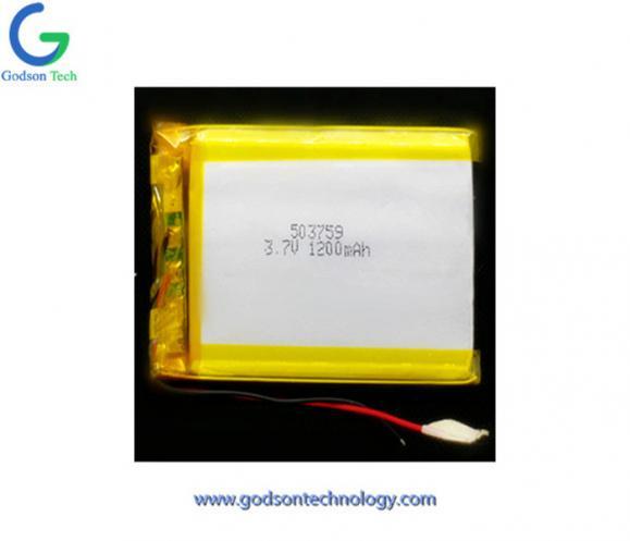 Li-Polymer Battery 503759 1200mAh 3.7V