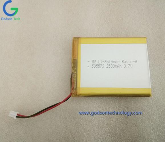 Li-Polymer Battery 505573 2500mAh 3.7V