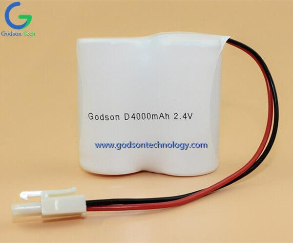 Ni-Cd Battery Pack D4000mAh 2.4V SBS