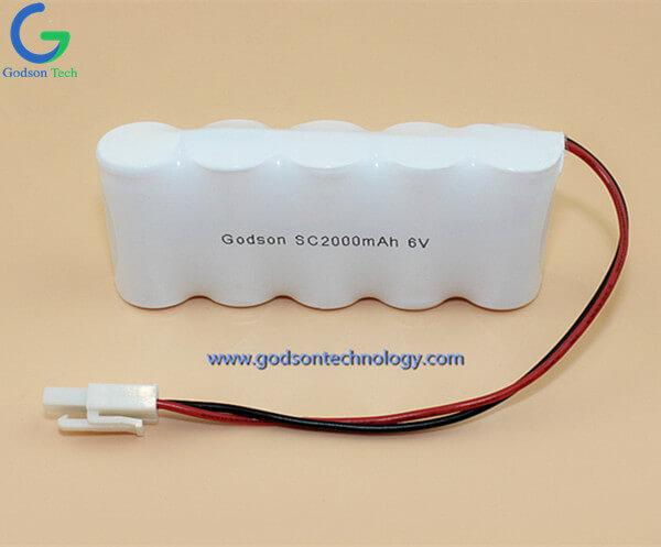 Ni-Cd  Battery Pack SC2000mAh 6.0V SBS