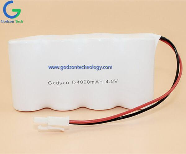 Ni-Cd Battery Pack D4000mAh 4.8V SBS