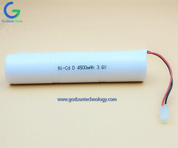 Ni-Cd Battery Pack D4500mAh 3.6V