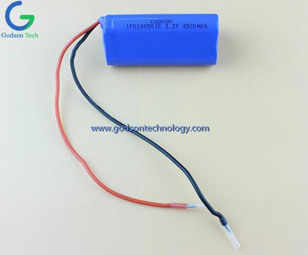 LiFePO4 Battery Pack IFR18650 3.2V 4500mAh