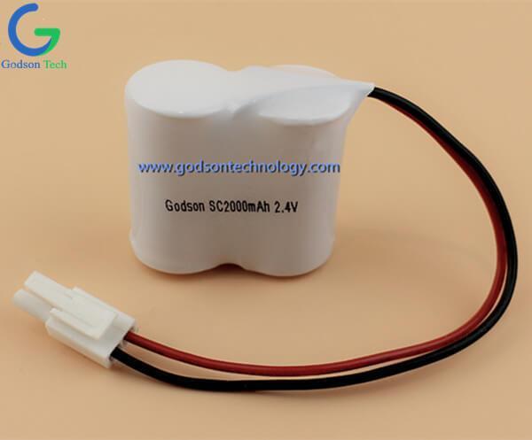 Ni-Cd Battery Pack SC2000mAh 2.4V