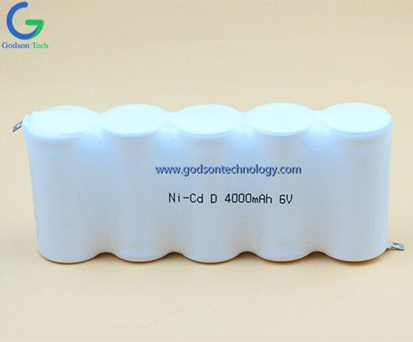 Ni-Cd Battery Pack D4000mAh 6.0V