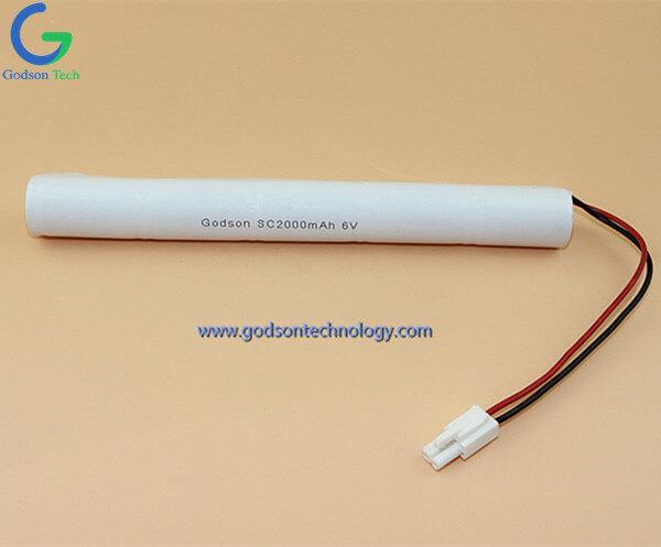 Ni-Cd Battery Pack SC2000mAh 6.0V