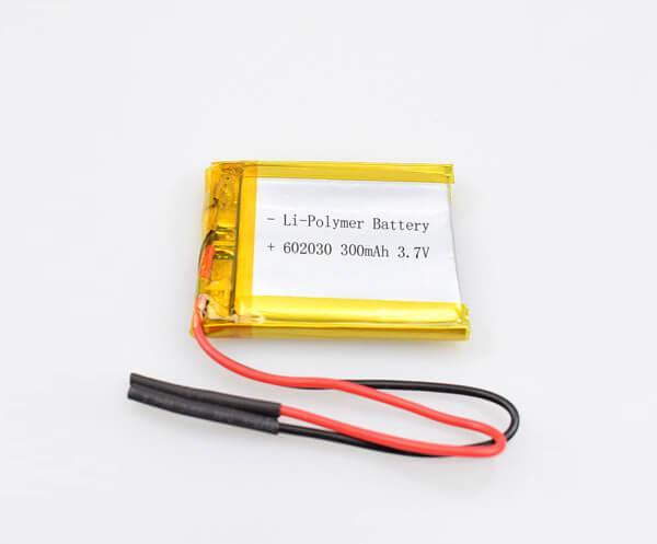 Li-Polymer Battery 602030 300mAh 3.7V