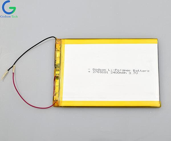 Li-Polymer Battery 2769101 2400mAh 3.7V