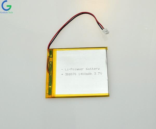 Li-Polymer Battery 306070 1400mAh 3.7V