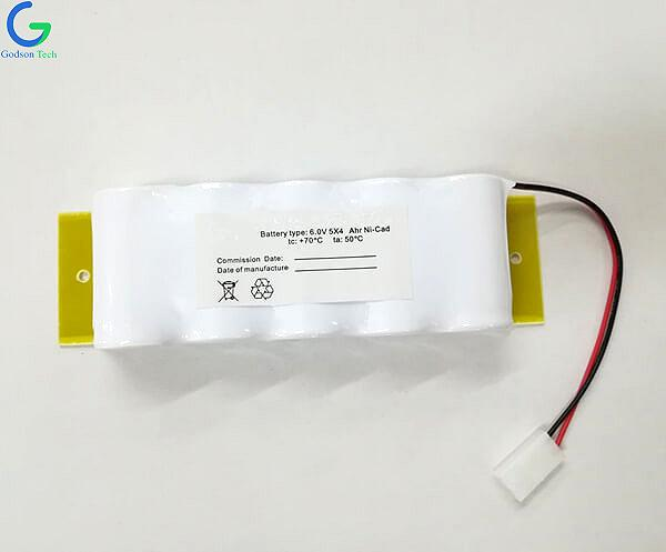 Ni-Cd Battery Pack D4000mAh 6V