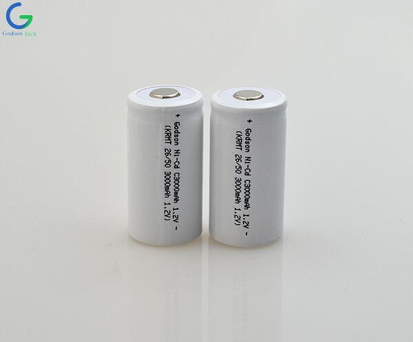 Ni-Cd  Battery Cell C3000mAh 1.2V