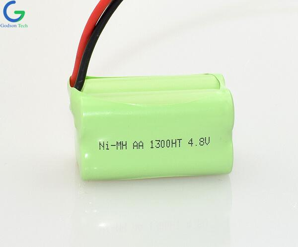 Ni-MH Battery Pack AA 1300mAh 4.8V