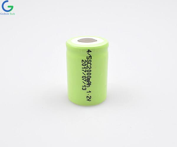 Ni-MH Battery Cell 4/5SC 2000mAh 1.2V