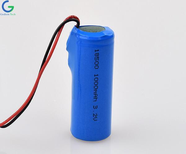 LiFePO4 Battery IFR18500 1000mAh 3.2V