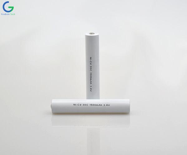 Ni-Cd Battery Pack 3SC 1500mAh 3.6V
