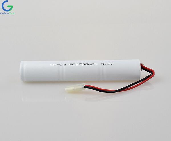 Ni-Cd Battery Pack SC1700mAh 3.6V