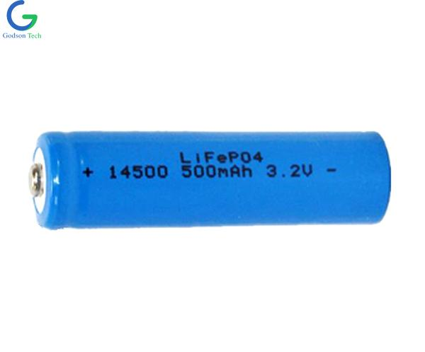 LiFePO4 IFR14500 3.2V 500mAh