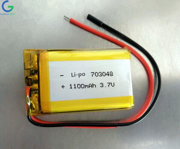 Li-Polymer Battery 703048 1100mAh 3.7V