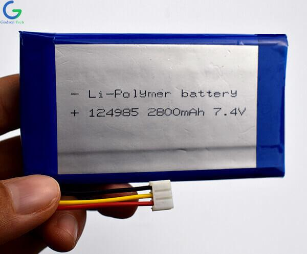 Lithium Polymer Battery 124985 2800mAh 7.4V