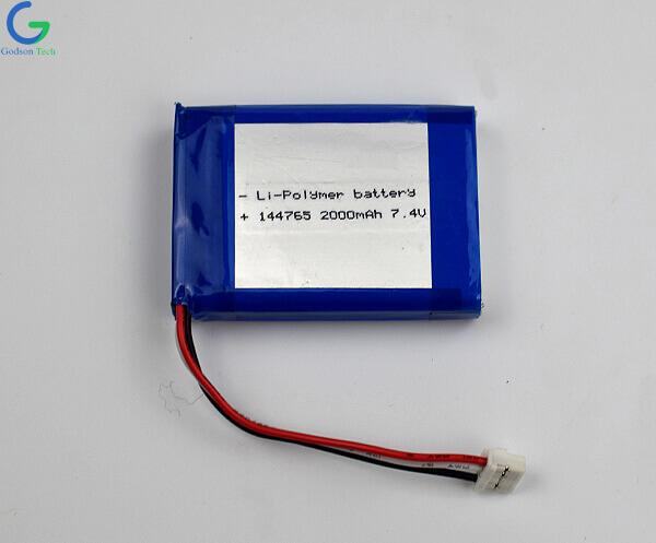 Lithium Polymer Battery 144765 2000mAh 7.4V