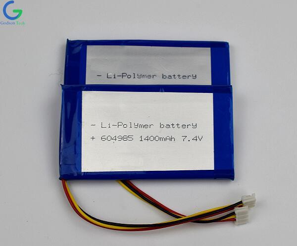 Lithium Polymer Battery 604985 1400mAh 7.4V