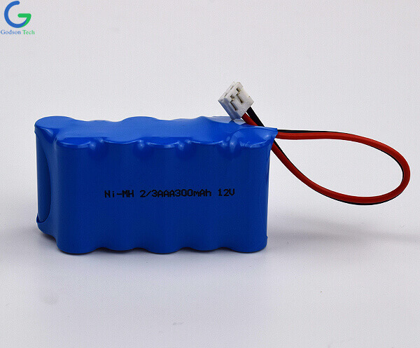 Ni-MH Battery Pack 2/3AAA 300mAh 12V