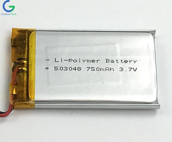 Li-Polymer Battery 503048 750mAh 3.7V
