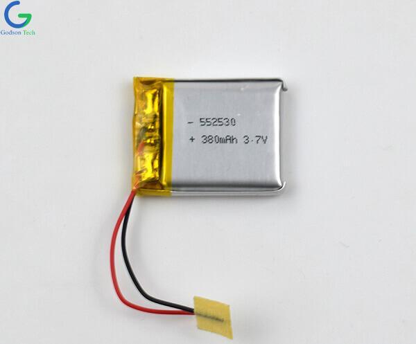 Lithium Polymer Battery 552530 380mAh 3.7V