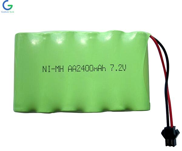 Ni-MH Battery Pack AA2400mAh 7.2V