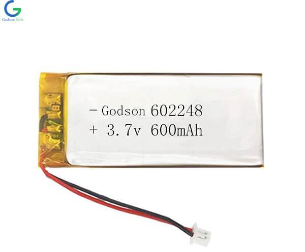 Lithium Polymer Battery 602248 600mAh 3.7V