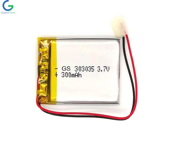 Lithium Polymer Battery 303035 300mAh 3.7V