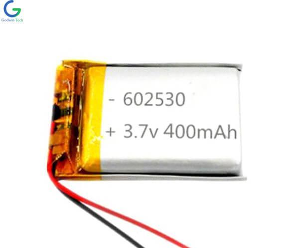 Lithium Polymer Battery 602530 400mAh 3.7V