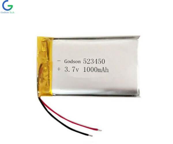 Lithium Polymer Battery 523450 1000mAh 3.7V