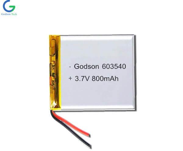 Lithium Polymer Battery 603540 800mAh 3.7V