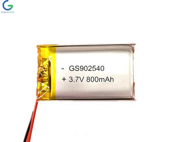 Lithium Polymer Battery 902540 800mAh 3.7V