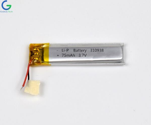 Lithium Polymer Battery 310938 75mAh 3.7V