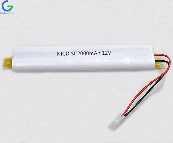 Ni-Cd Battery Pack SC2000mAh 12V