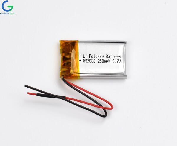 Lithium Polymer Battery 502030 250mAh 3.7V