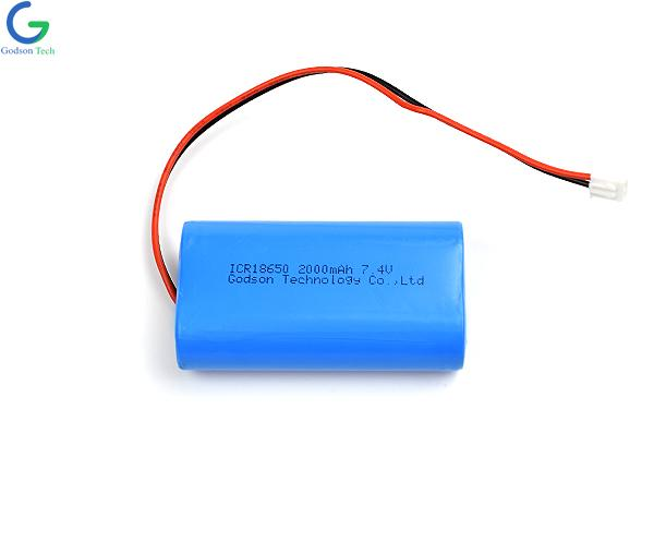 Lithium Battery ICR18650 2000mAh 7.4V