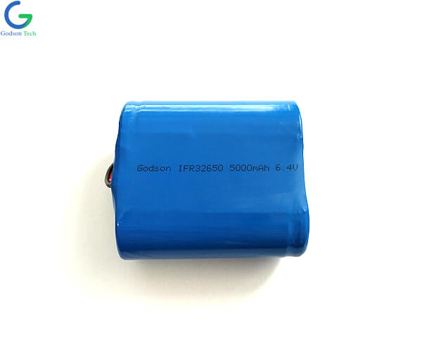 LiFePO4 Battery Pack IFR32650 5Ah 6.4V