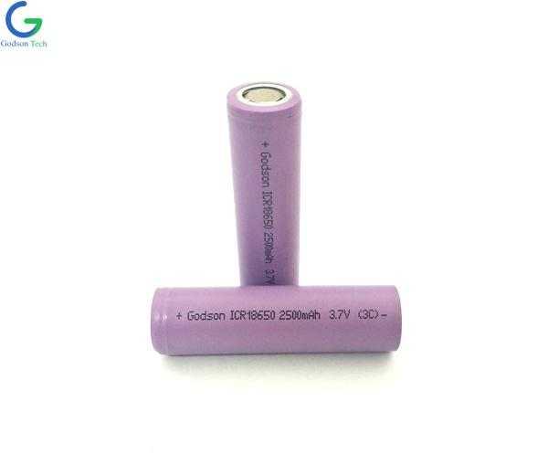 Lithium Battery ICR18650 2500mAh 3.7V