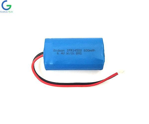 LiFePO4 IFR14500 600mAh 6.4V